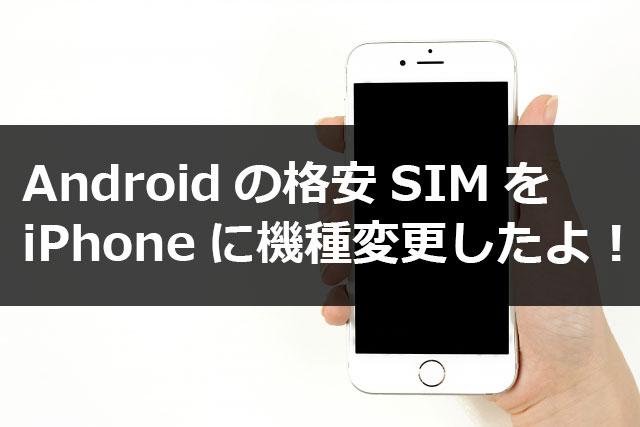 格安SIMを中古のiPhone6sを買って使ったので注意点まとめ